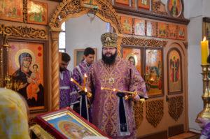 Митрополит Исидор с архипастырским визитом посетил Монастырщину