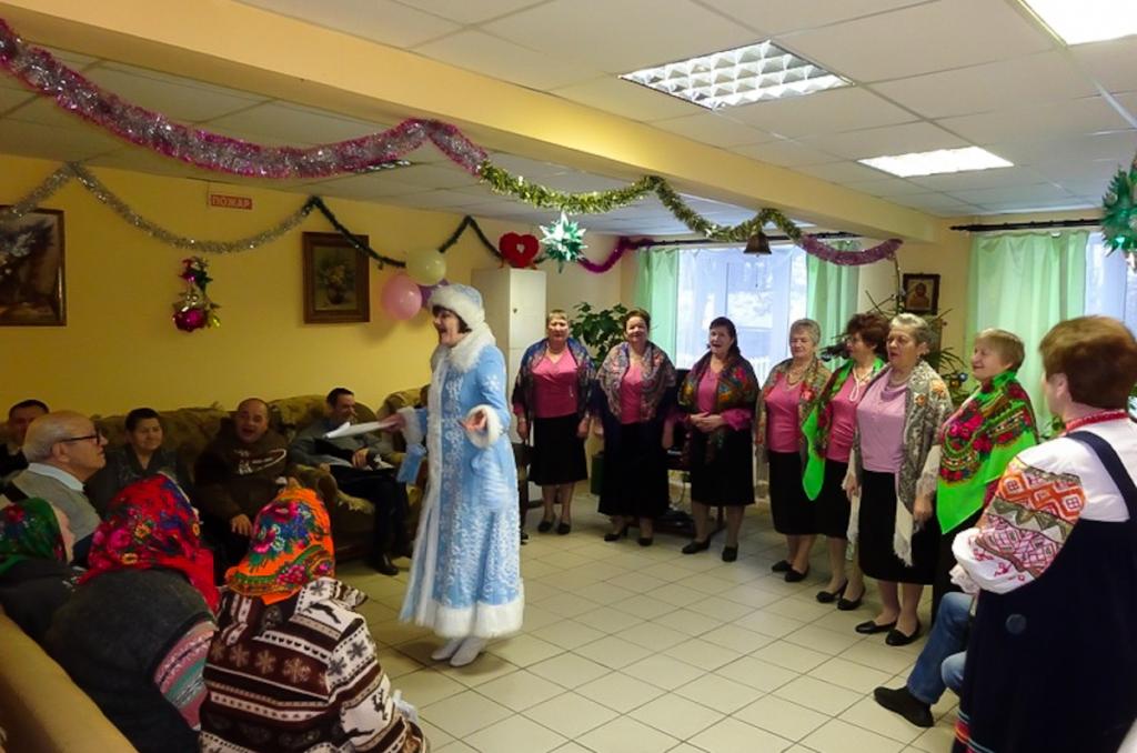 Поздравление жителей Городищенского дома-интерната c Новолетием