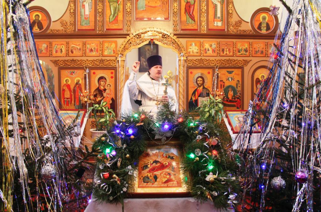 Празднование Рождества Христова в Монастырщине