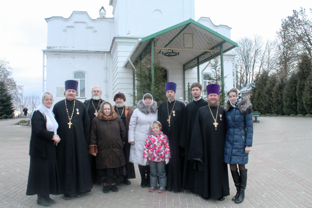 Торжественная встреча с епископом Мелетием. Награждение клириков и мирян Рославльской епархии